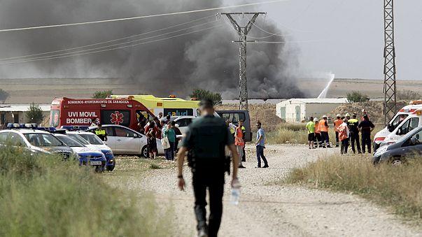 Todavía se investigan las causas de la explosión en una fábrica pirotécnica en Zaragoza
