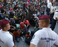 Migrants: angry scenes as hundreds stranded in Hungary