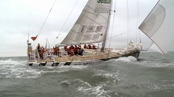 Veleiros da Clipper Race a caminho do Rio de Janeiro