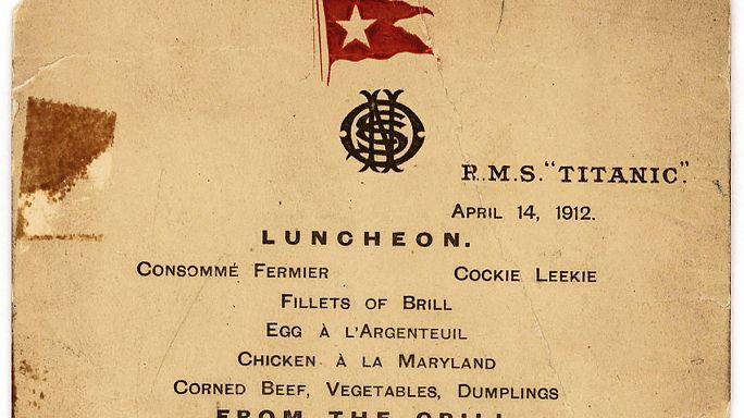 Titanik'in son öğlen yemeği menüsü açık artırmada