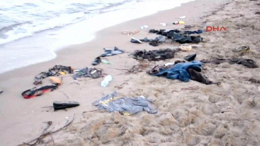 غرق لاجئين سوريين بينهم أطفال قرب بودروم التركية