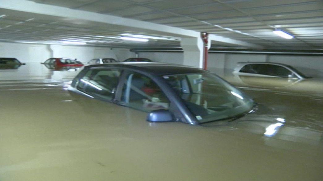 Überschwemmungen nach schwerem Regen in Südnorwegen