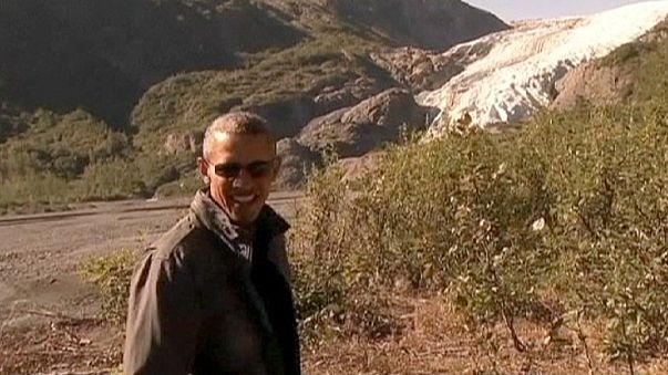 US president tours Resurrection Bay to highlight Alaska climate change