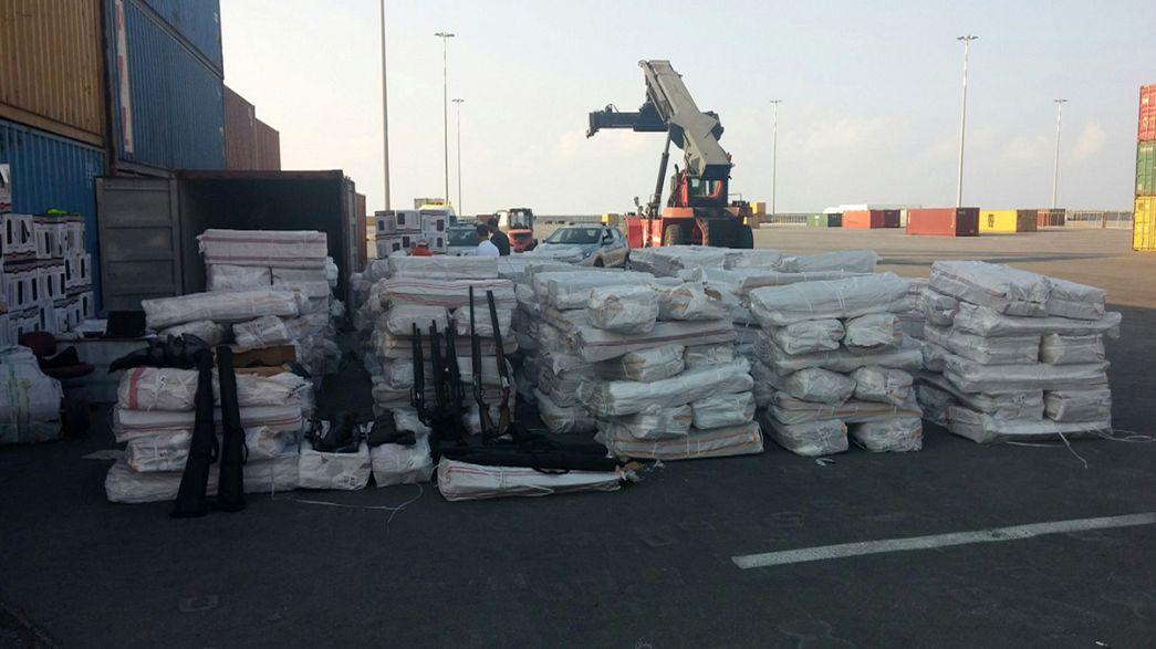 Grecia apresa un carguero con armamento no declarado que se dirigía a Libia