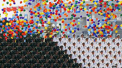 China shows off military force in parade marking Japan's WWII defeat