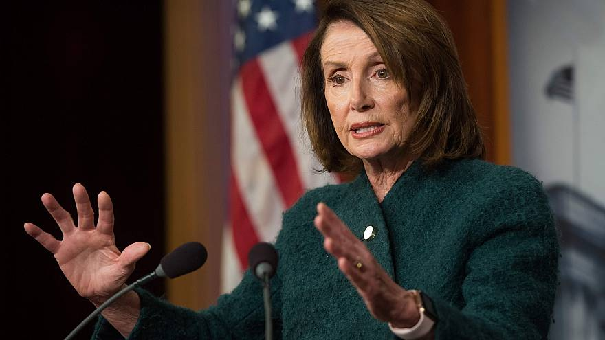 Image: House Democratic Leader Nancy Pelosi speaks about the Omnibus budget