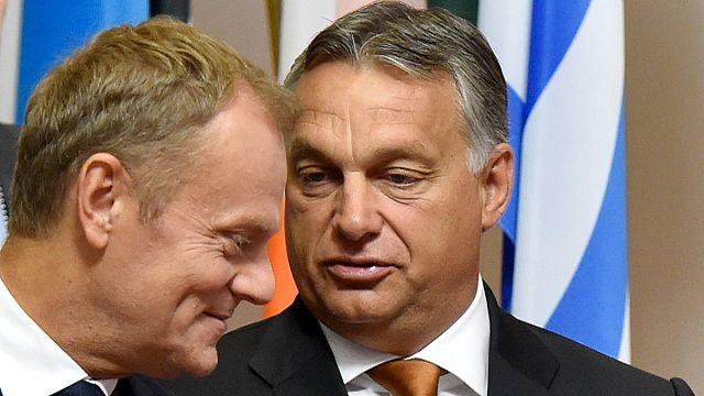 رئيس وزراء المجر في بروكسل طالبا دعما أوروبيا للقوانين المجرية الجديدة المتشددة الخاصة بالهجرة.
