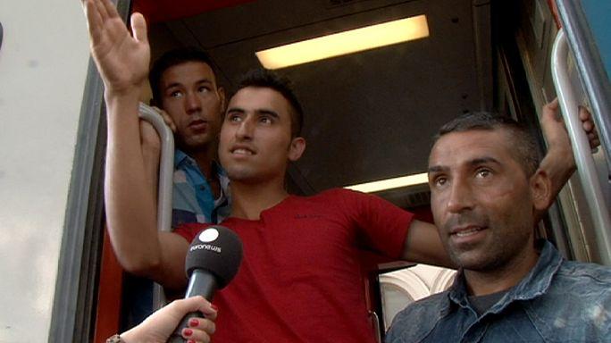 Macaristan'daki göçmenlerin meçhule yolculuğu başladı