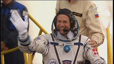 Making history, Denmark's first man in space