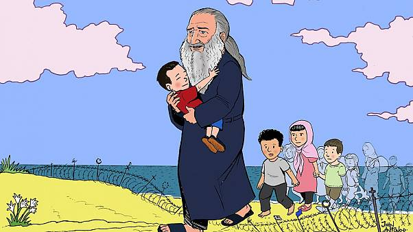 Artist pays tribute to Aylan Kurdi and Good Samaritan