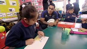 All Blacks enjoy World Cup send off in school visit