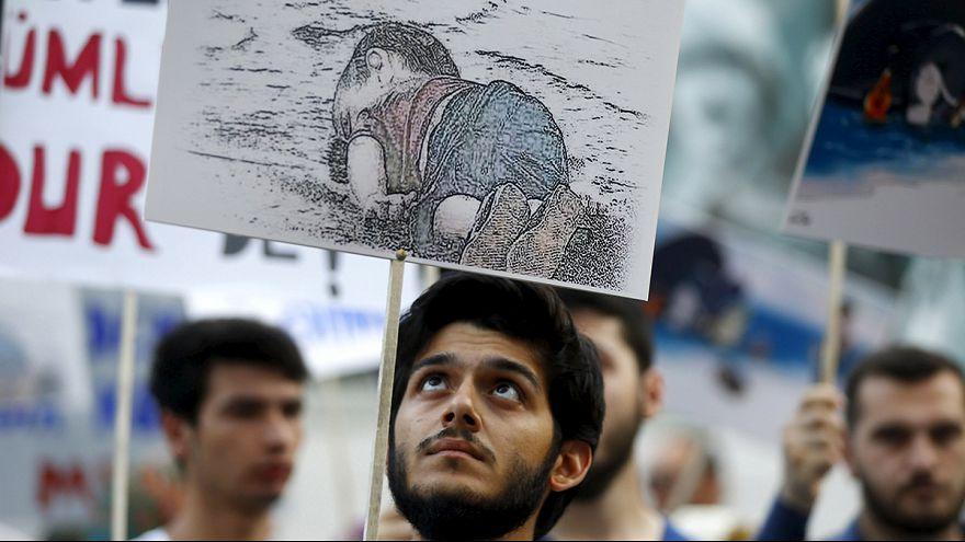 Istanbuls Bevölkerung zeigt Solidarität mit Migranten