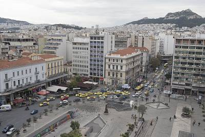 Omonia Square is one of the main meeting points in central Athens.
