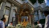 Bangkok's Erawan Shine restored to public view after bomb blast