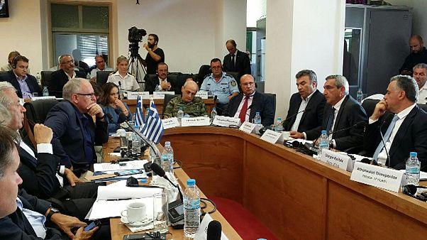 Στην Κω Αβραμόπουλος και Τίμερμανς για το προσφυγικό