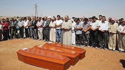 Aylan: Kobani awash with tears as the toddler, his brother and mother are buried
