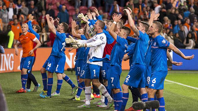 Les Islandais à la fête, les Néerlandais à la peine