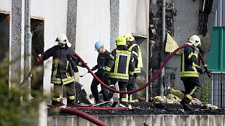 Five injured as fire tears through refugee shelter in Germany