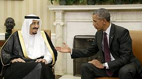 Iran and Yemen top agenda as Saudi king meets Obama