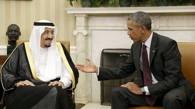 Suudi Arabistan Kralı Salman Beyaz Saray'da Obama ile görüştü
