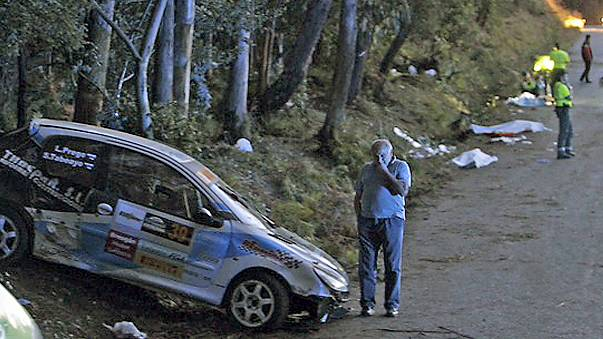 Fatal rally crash in Spain as car ploughs into spectators