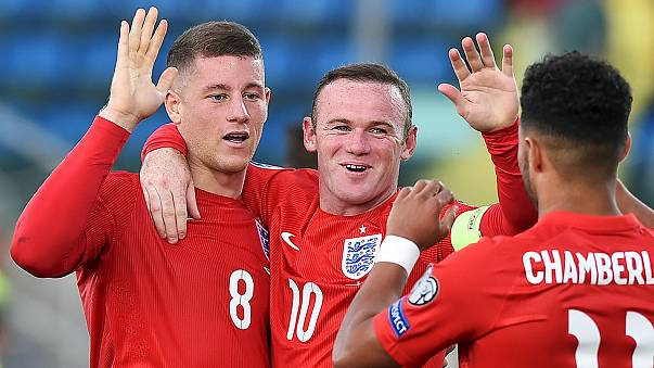 Rooney equals scoring record as England become first team to qualify for the European Championships