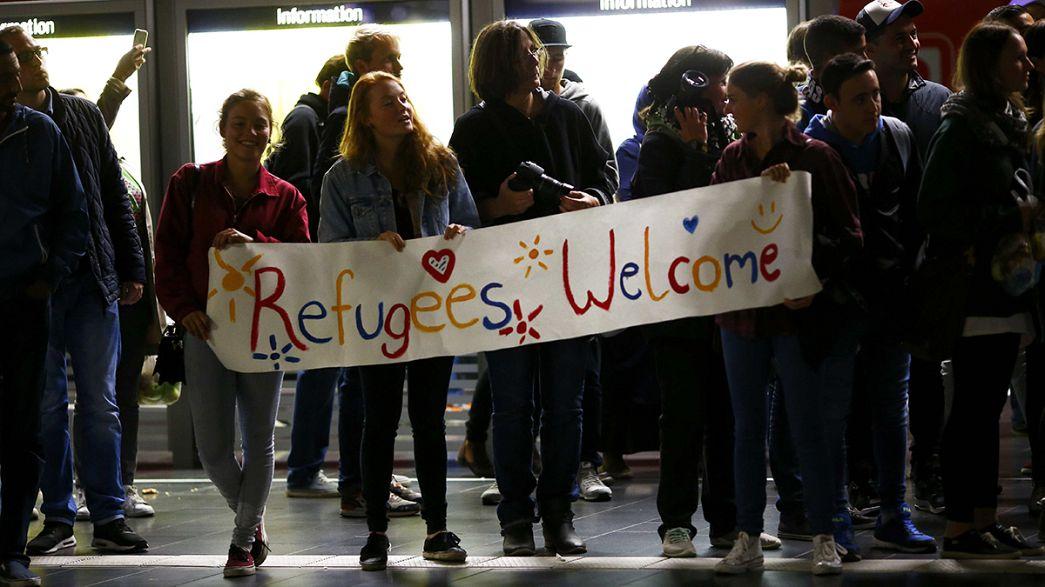 Accueil chaleureux pour des migrants arrivant à Munich