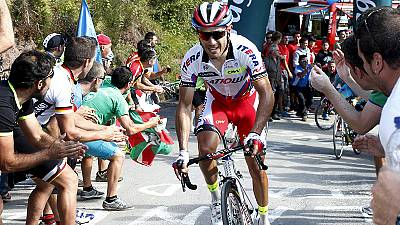 Rodriquez closes gap on Aru with win on stage 15 of Vuelta
