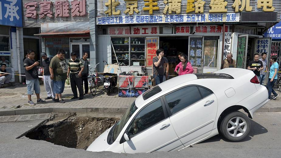 Accident de la route en Chine
