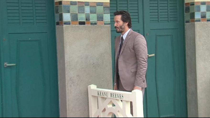 Keanu Reeves on the Deauville boards