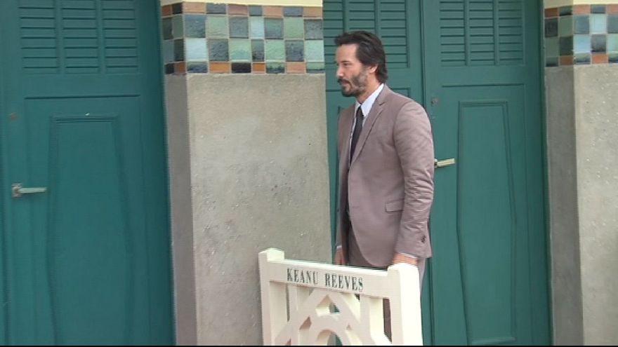Keanu Reeves sur les planches de Deauville