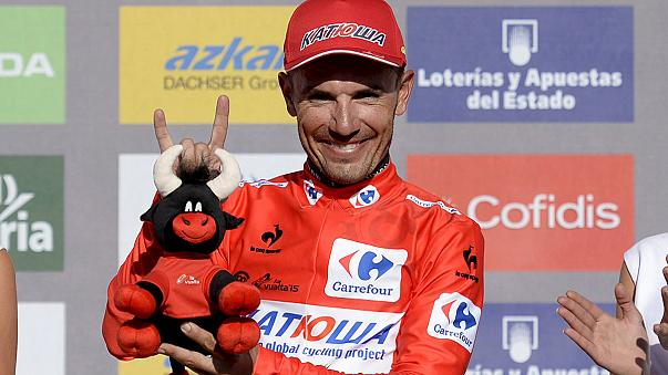 Rodriguez takes Vuelta lead as Schleck wins stage 16