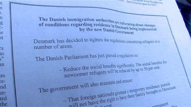 Denmark: launches anti-migrant ad campaign