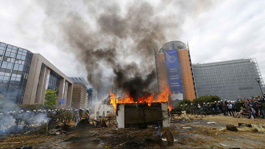 الفلاحون يتظاهرون في بلجيكا