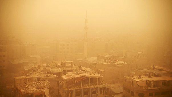 عاصفة رملية في الشرق الأوسط تقتل 8 أشخاص في سوريا ولبنان