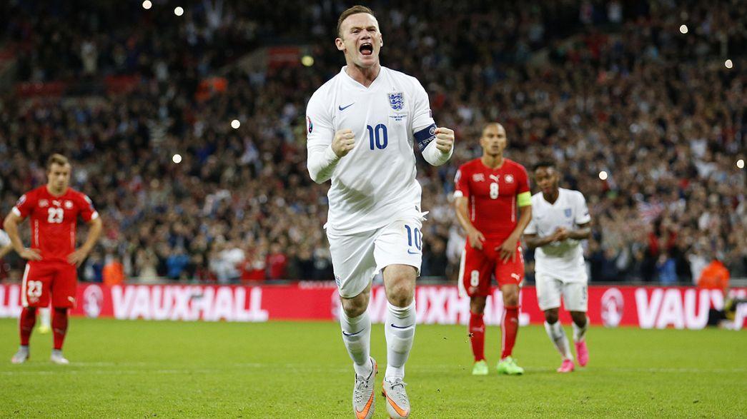 Áustria garante presença no Euro2016. Rooney marca golo 50
