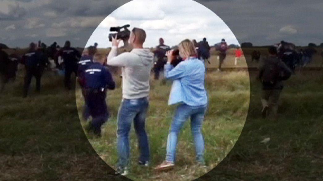 Televisão húngara despede repórter de imagem que passou rasteiras a refugiados