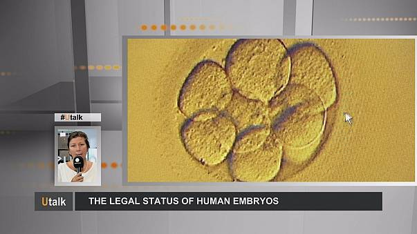 What is the legal status in Europe of human embryos?