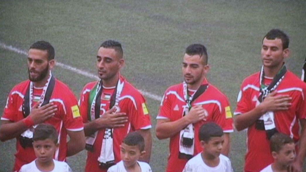 Filistin'de ilk milli maç