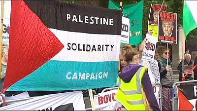 Proteste in London: 108.000 Menschen verlangen Netanjahus Verhaftung