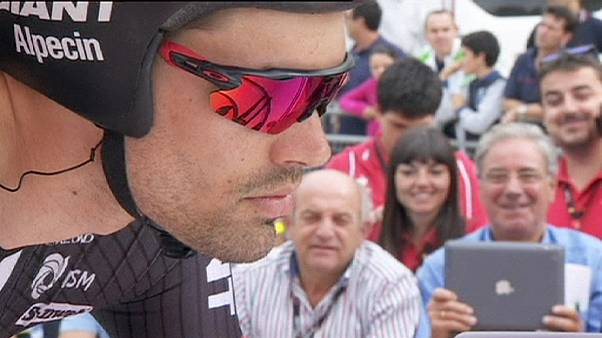 Dumoulin takes Vuelta lead after dominating time trial