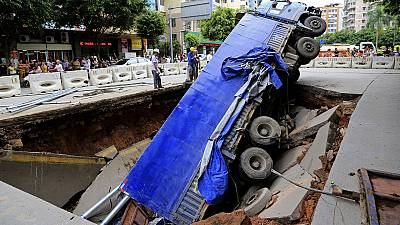 [PHOTOS] When the ground literally falls away beneath you