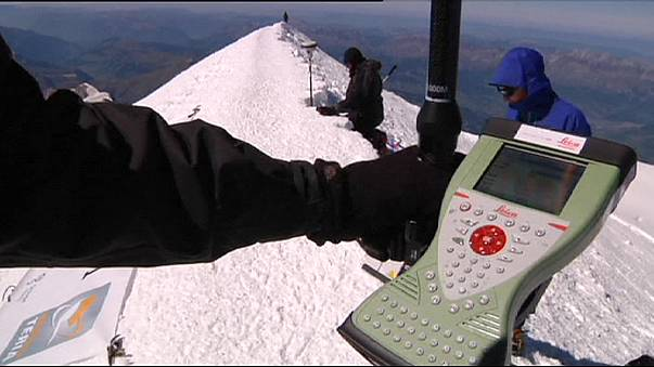 L'altezza del Monte Bianco cala di più di un metro