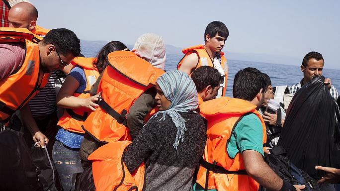 Dinghies packed with migrants continue to arrive on Lesbos