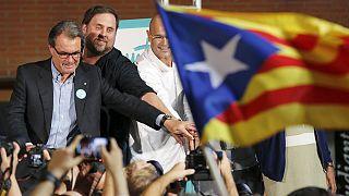 Diada 2015: los independentistas catalanes enseñan músculo