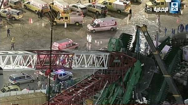 Over 80 dead and scores injured in Mecca crane crash