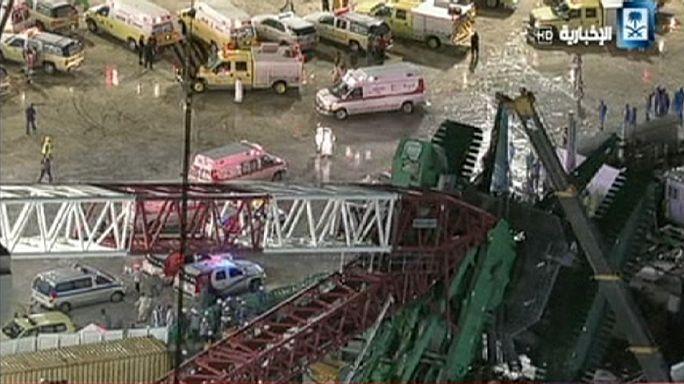Over 80 dead and scores injured in Mecca crane crash