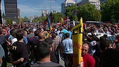 Espanha: Protesto contra a Uber em Madrid