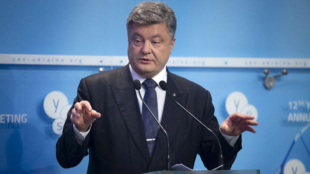 بوروشينكو يؤكد على ضرورة التنفيذ الكامل لاتفاقية مينسك قبل نهاية 2015