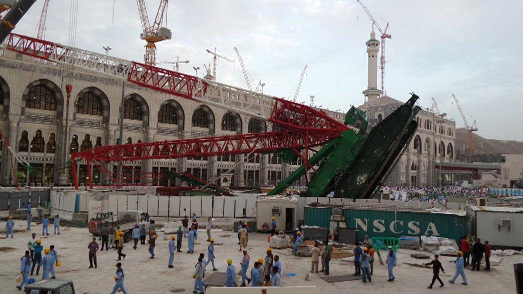 Queda de grua mata mais de 100 pessoas na Grande Mesquita de Meca